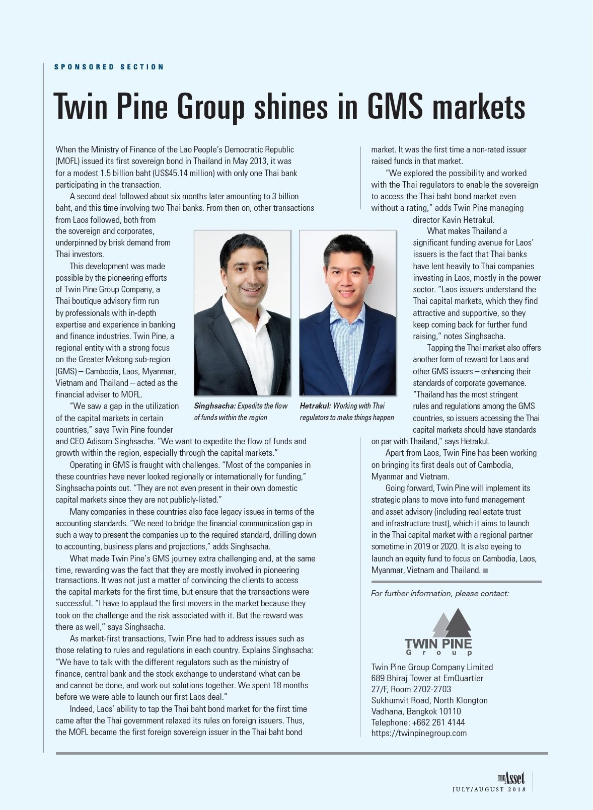 The Asset Magazine – Twin Pine Group shines in GMS markets